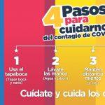 #PUBLICIDAD    4 PASOS PARA CUIDARNOS DEL CONTAGIO DE COVID-19